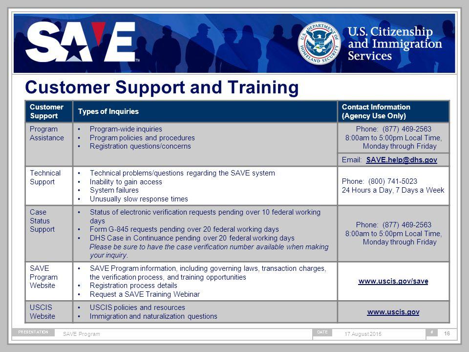 Systematic Alien Verification for Entitlements (SAVE) Program I-94