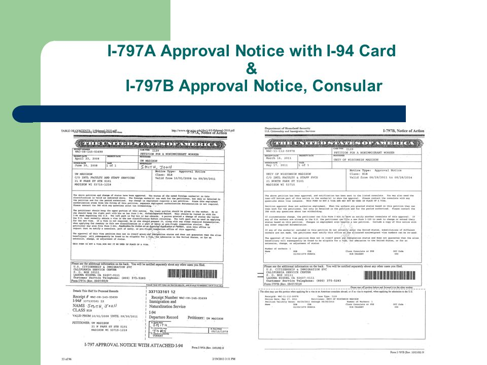 Overview of Immigration Documents February 26, 2013 International