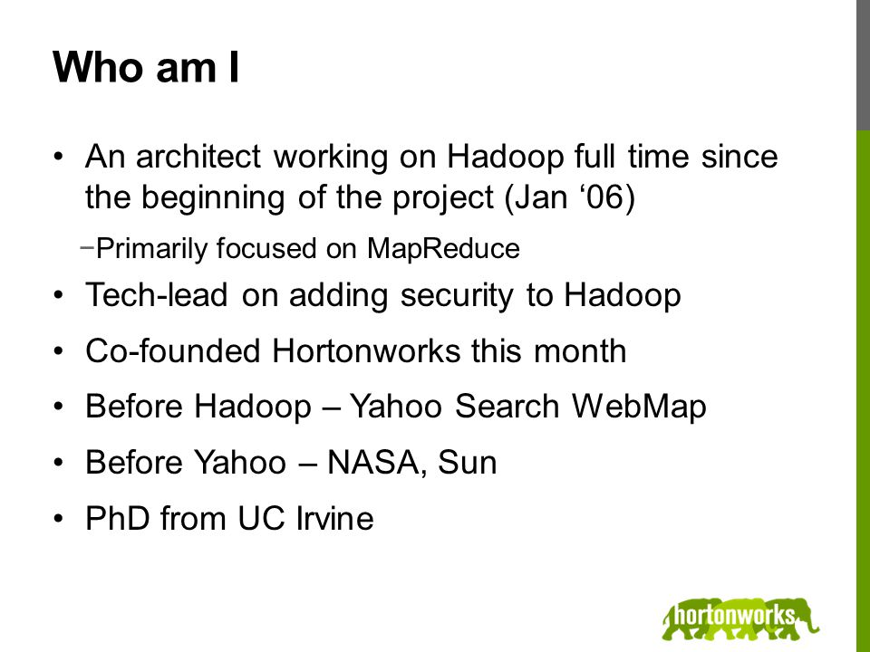 Developing and Deploying Apache Hadoop Security Owen O