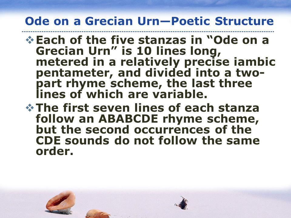 ode to grecian urn analysis stanza by stanza