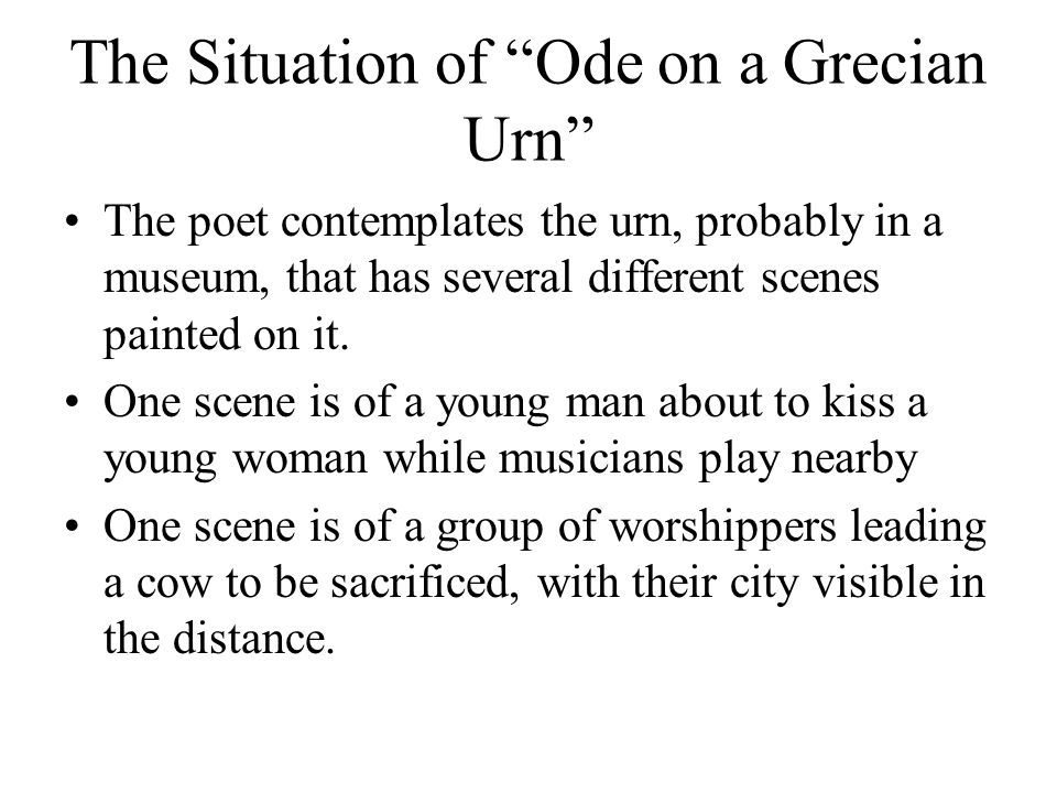 ode on a grecian urn author