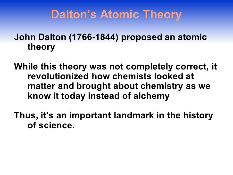 why is john dalton important