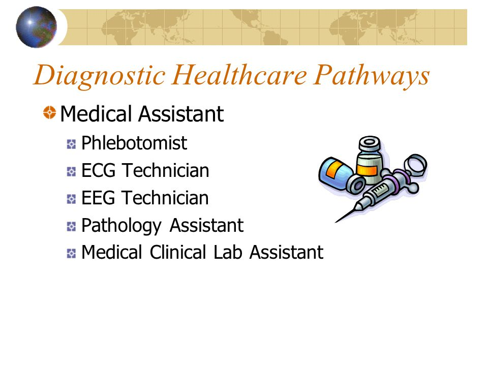 Diagnostic Healthcare Pathways Medical Assistant Phlebotomist ECG Technician EEG Technician Pathology Assistant Medical Clinical Lab Assistant