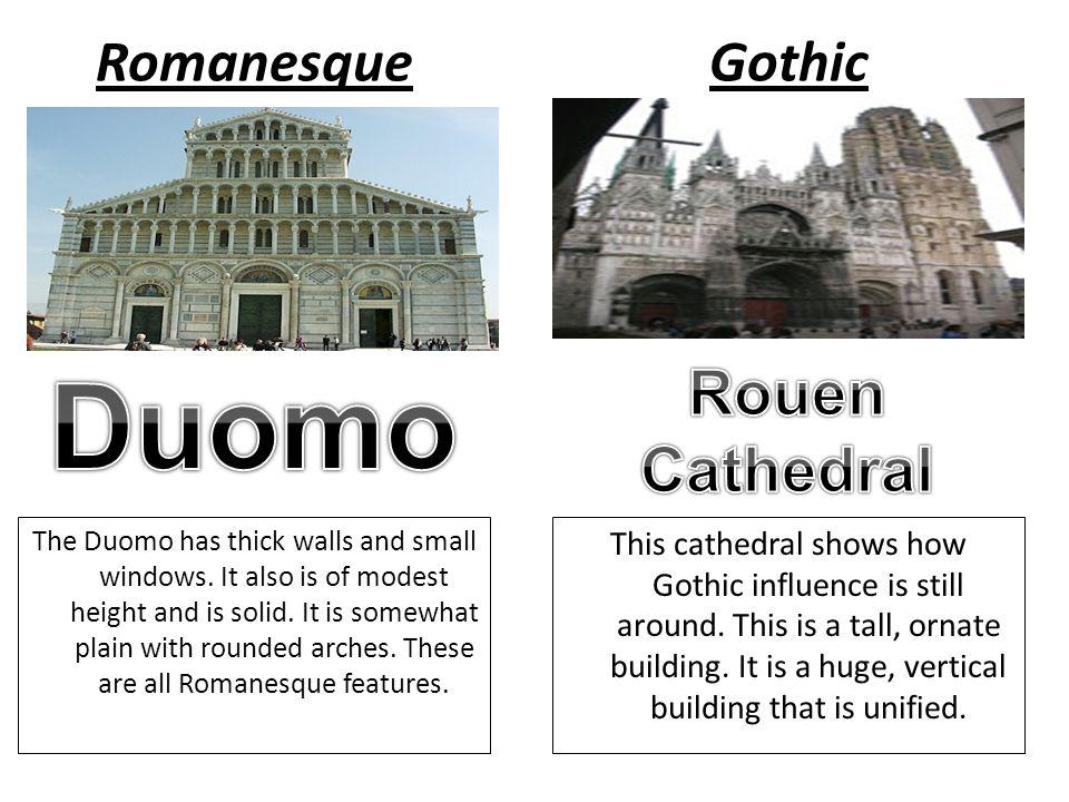 romanesque vs gothic