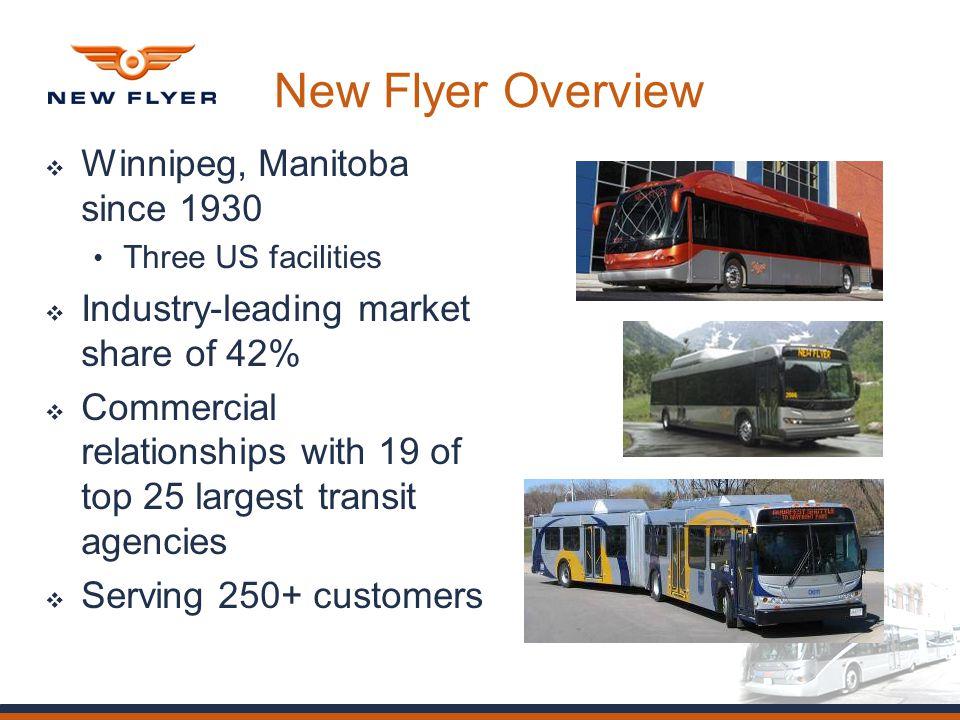 BRT Vehicle Development  New Flyer Overview  Winnipeg, Manitoba