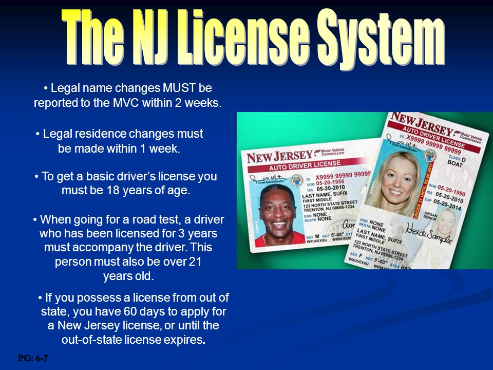 chapter one chapter one the new jersey driver license system miss