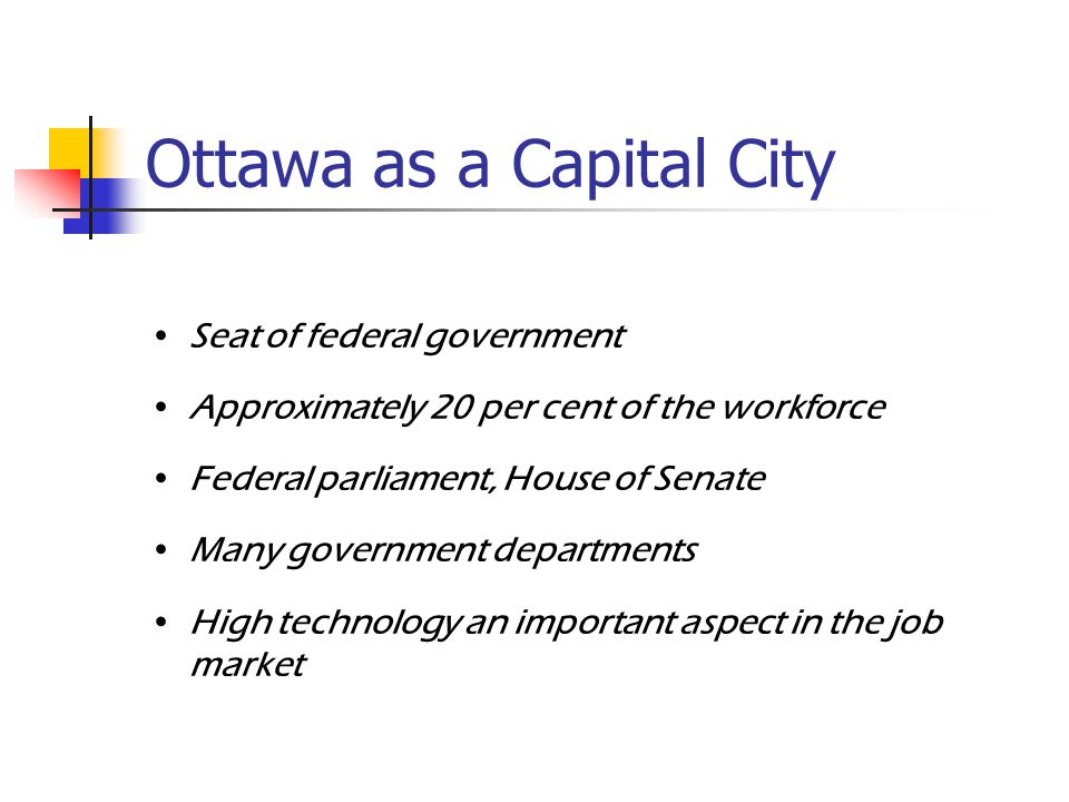 Ottawa Our Nation's Capital  Ottawa – An Overview Area of