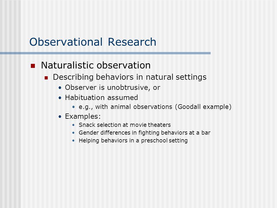adolescence naturalistic observation report This study examined peer intervention in bullying using naturalistic observations on school playgrounds the sample comprised 58 children (37 boys and 21 girls) in grades 1 to 6 who were observed to intervene in bullying.