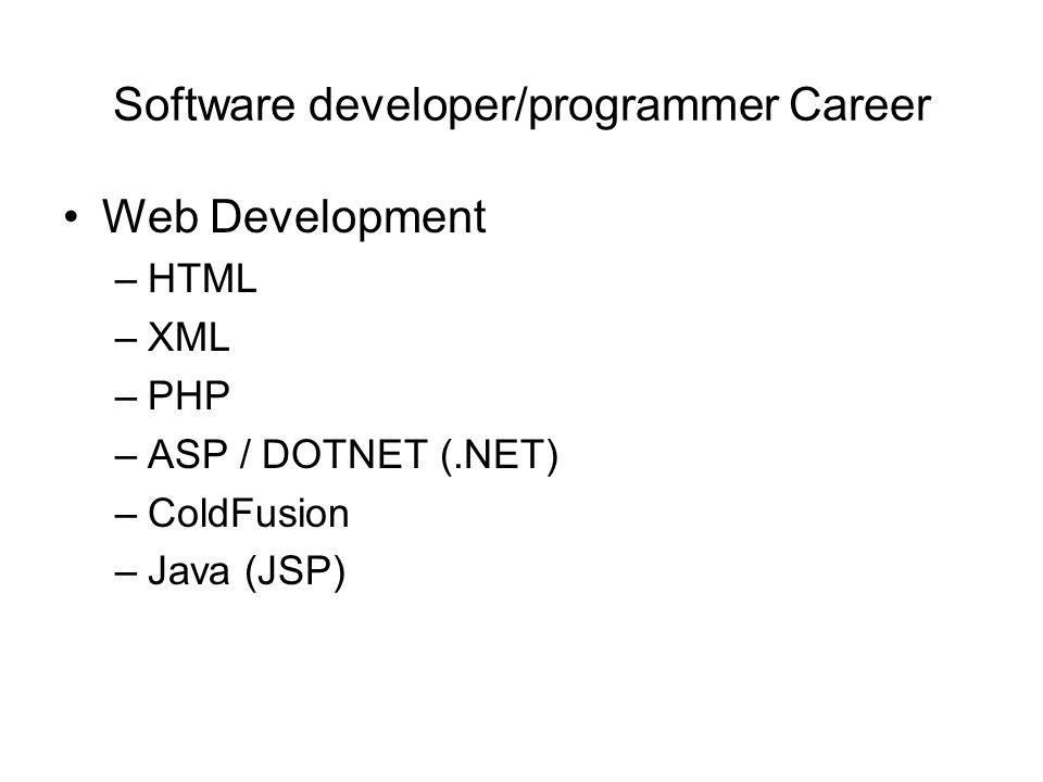 It Certification Software Developer Database Career Ppt Download