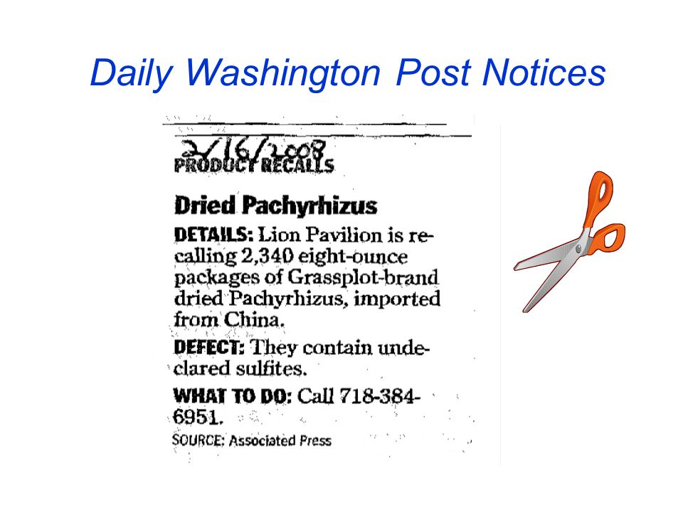 Daily Washington Post Notices
