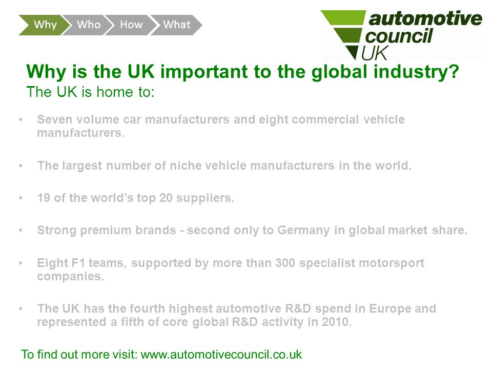 Why is the UK important to the global industry.