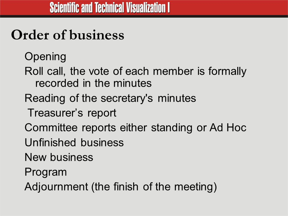 basic business meeting procedures identify basic meeting skills
