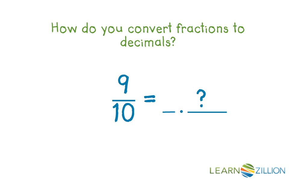 How do you convert fractions to decimals