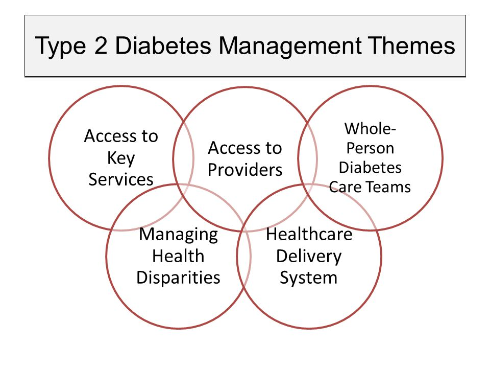 Access to Key Services Managing Health Disparities Access to Providers Healthcare Delivery System Whole- Person Diabetes Care Teams Type 2 Diabetes Management Themes