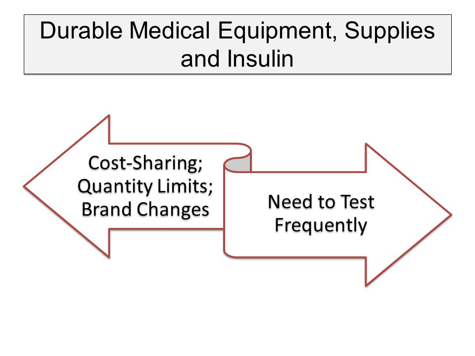 Durable Medical Equipment, Supplies and Insulin Cost-Sharing; Quantity Limits; Brand Changes Need to Test Frequently