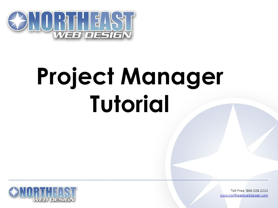 Toll Free: Project Manager Tutorial