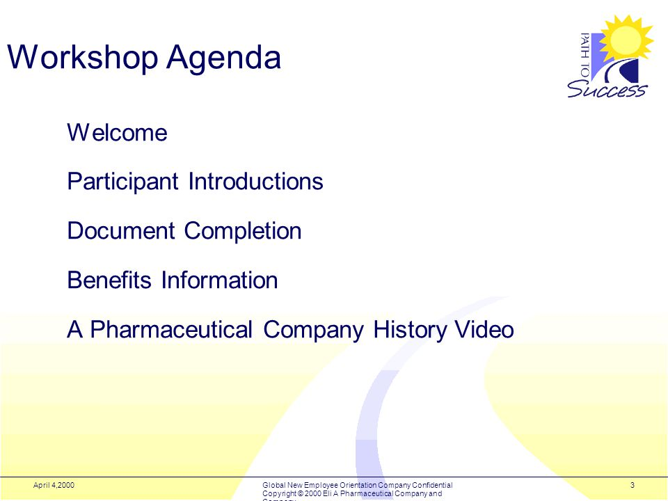 1 Global New Employee Orientation Workshop Welcome  - ppt