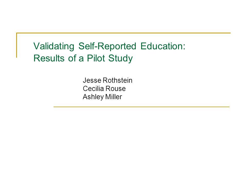Validating self