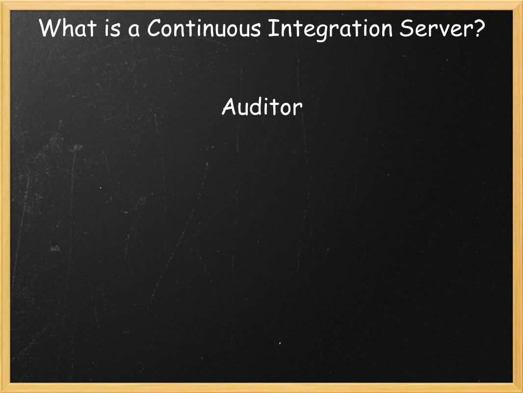 What is a Continuous Integration Server Auditor