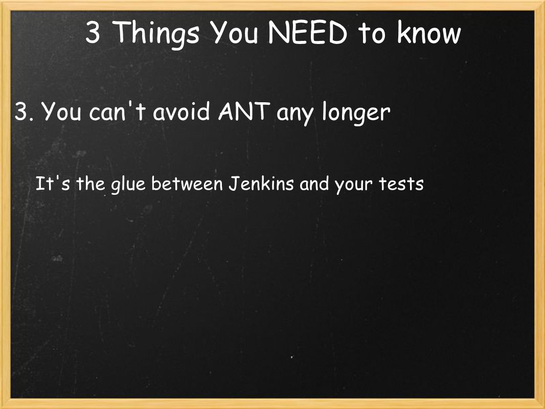 3 Things You NEED to know 3.