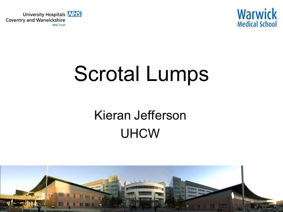 Scrotal Lumps Kieran Jefferson UHCW  Current practice 4% of TWW