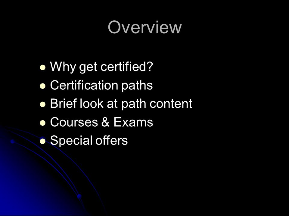 Microsoft Sql Server 2008 Certifications Overview Why Get Certified