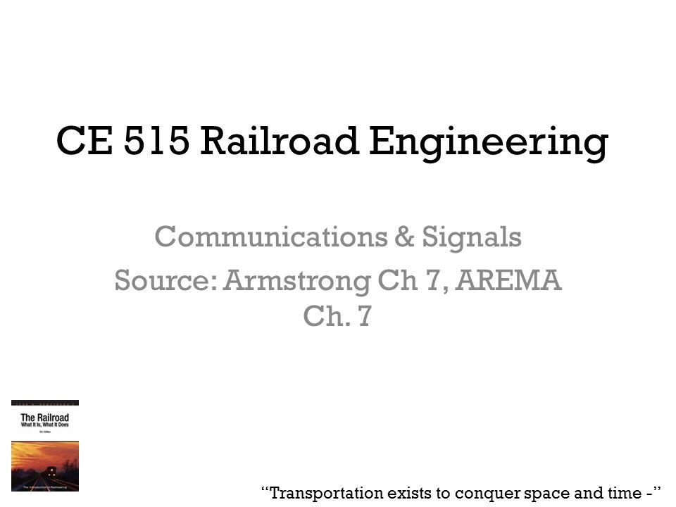 ce 515 railroad engineering communications signals source rh slideplayer com arema communications and signals manual pdf American Association of Railroads