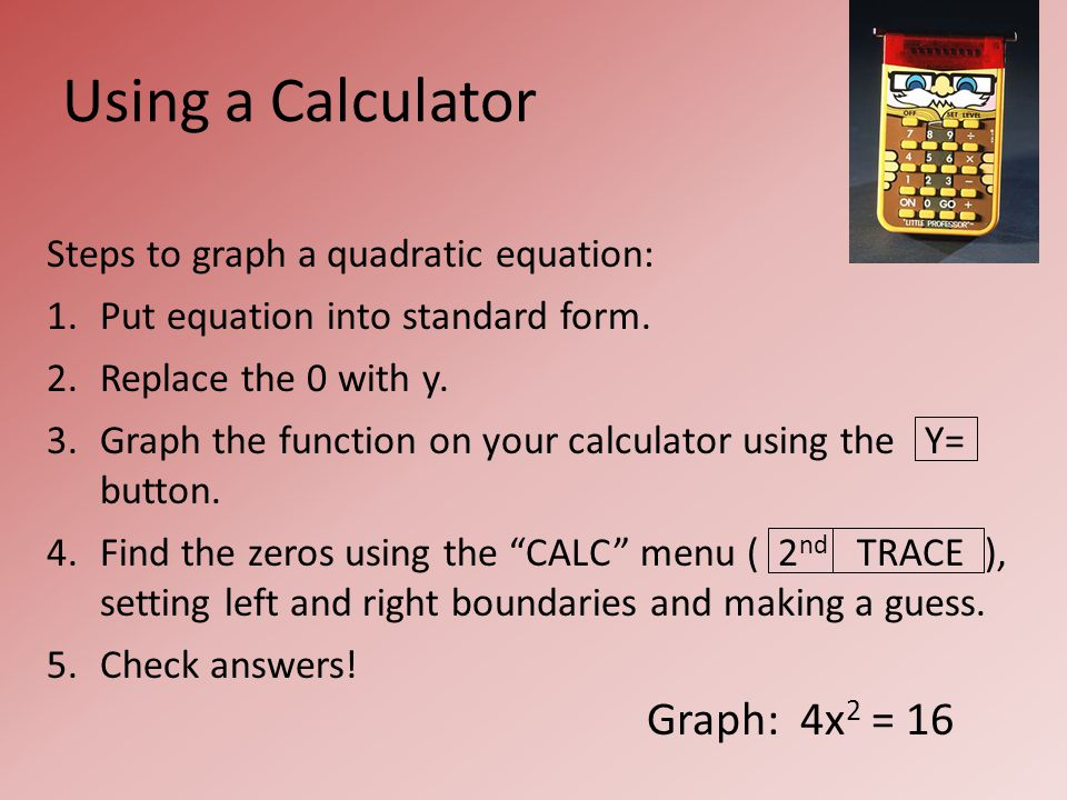 94 Solving Quadratic Equations By Graphing Warm Up Ppt Download