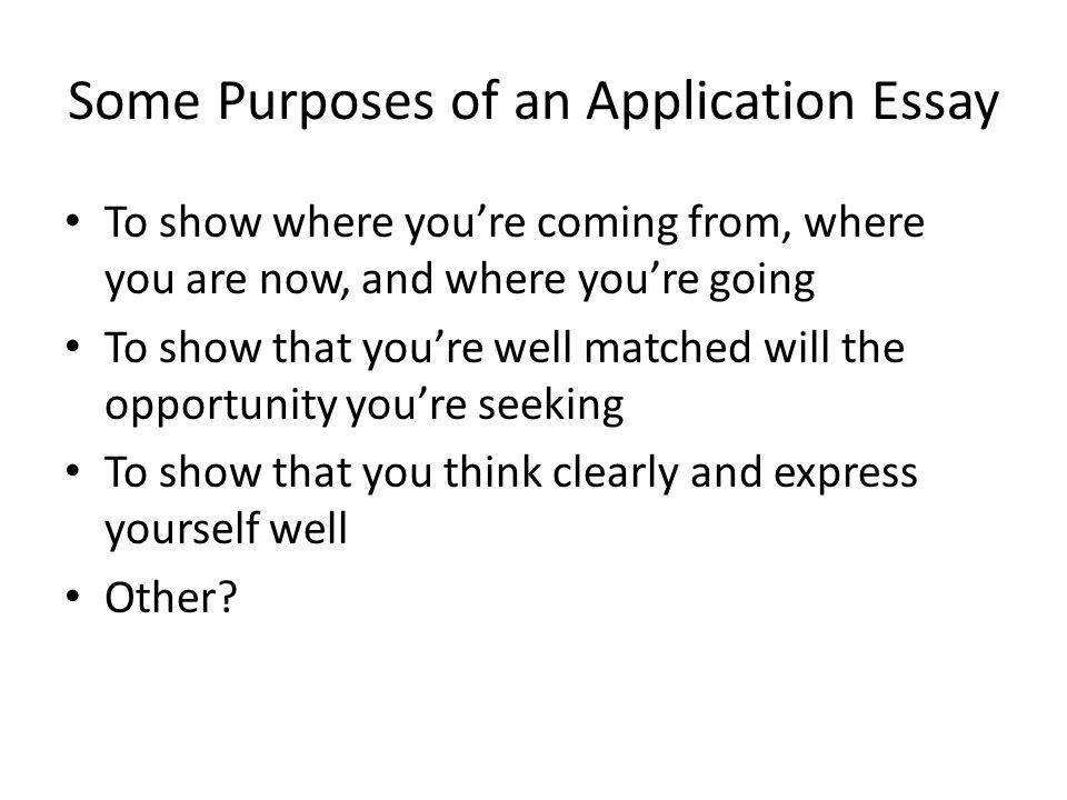 Writing Application Essays Barbara Gastel Md Mph Professor Texas   Some Purposes Of An
