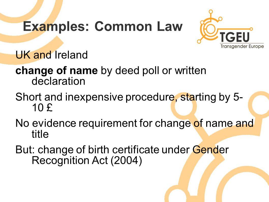 Gender Recognition Change Of Name And Gender Marker Blaw Alecs