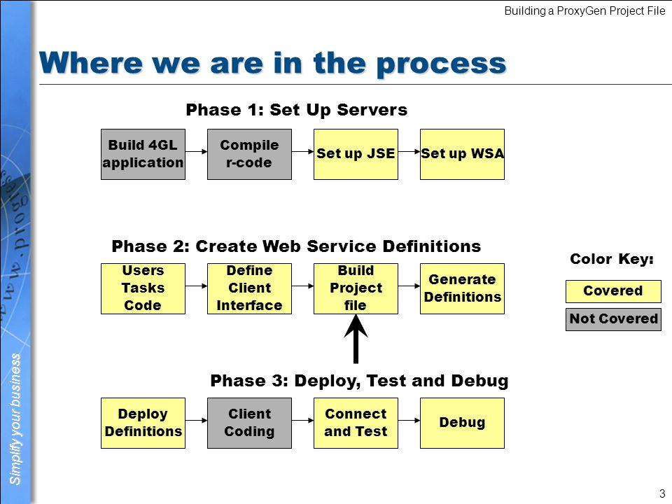 Lesson 6 Building a ProxyGen Project File  Simplify your business