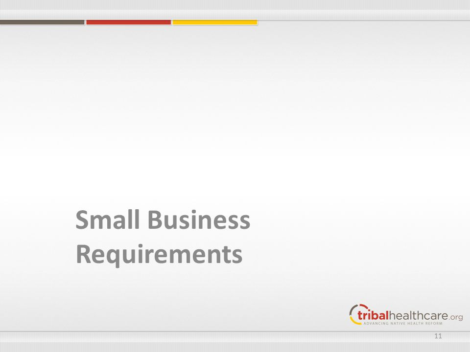 Small Business Requirements 11