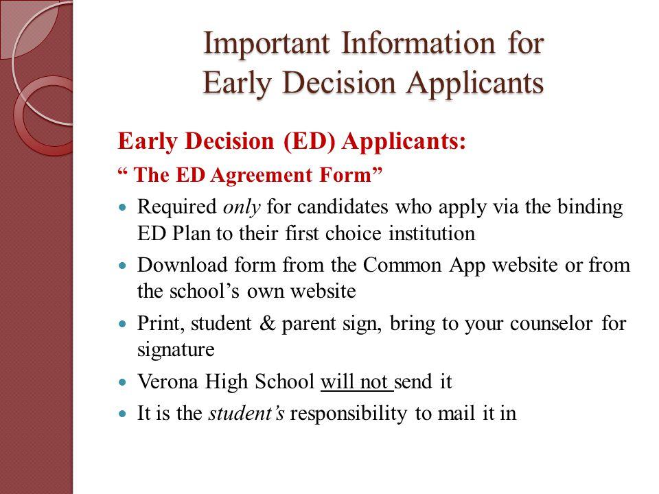 Navigating The College Application Process Verona High School