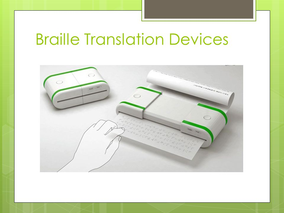Braille Translation Devices