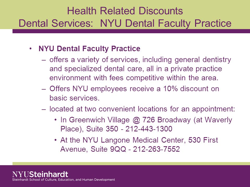 Health Related Discounts Medical Care The NYU Student Health Center