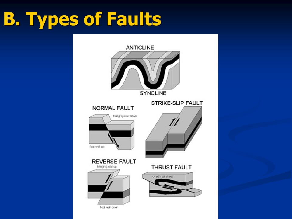 B. Types of Faults