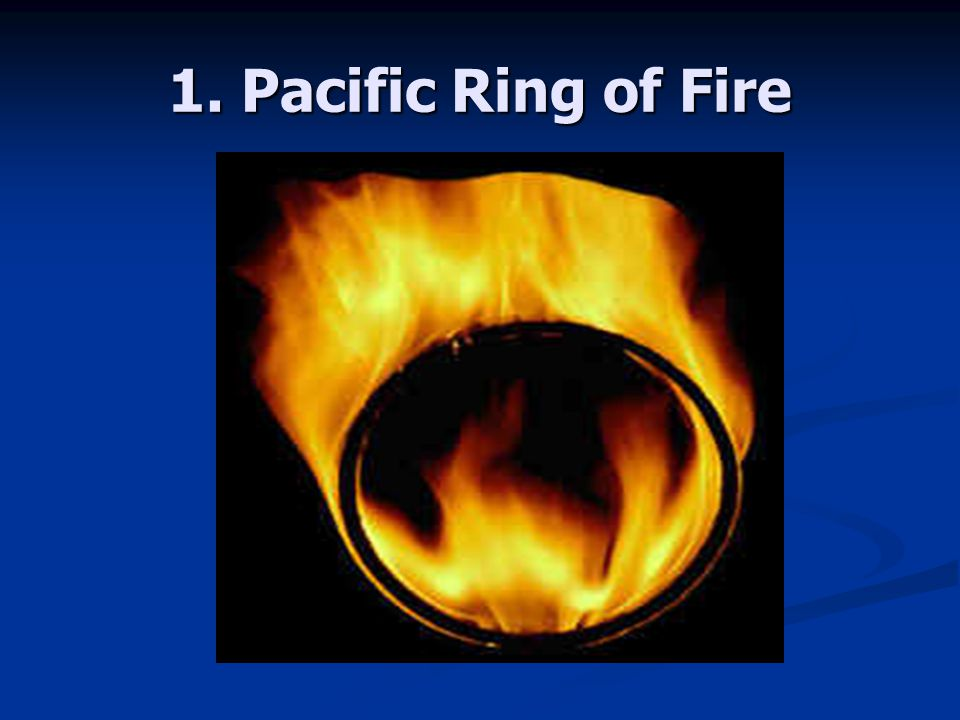 1. Pacific Ring of Fire