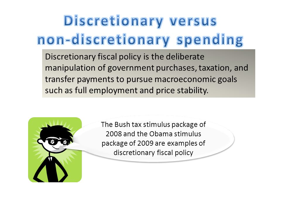 discretionary fiscal policy automatic stabilizers