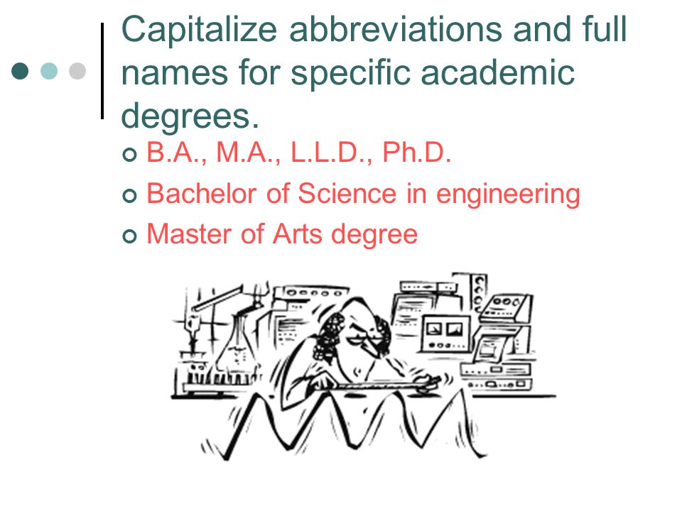 Capitalize Abbreviations And Full Names For Specific Academic Degrees