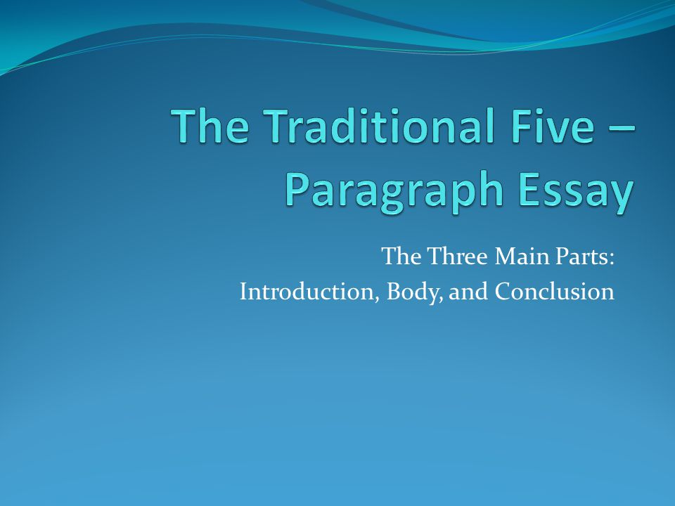 The Three Main Parts: Introduction, Body, and Conclusion