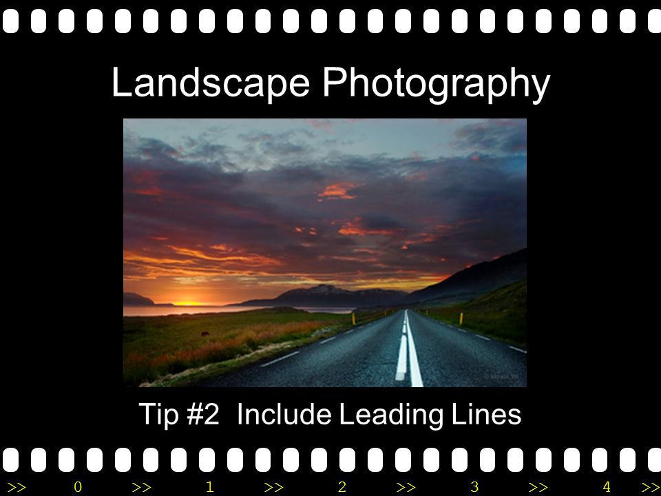 >>0 >>1 >> 2 >> 3 >> 4 >> Landscape Photography Tip #2 Include Leading Lines