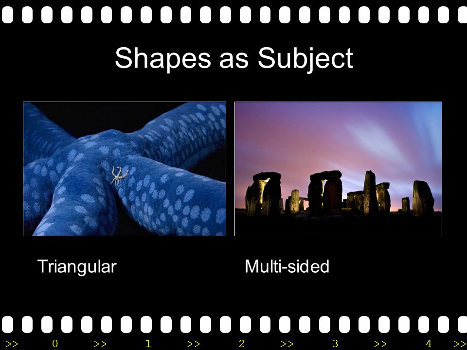 >>0 >>1 >> 2 >> 3 >> 4 >> Shapes as Subject TriangularMulti-sided