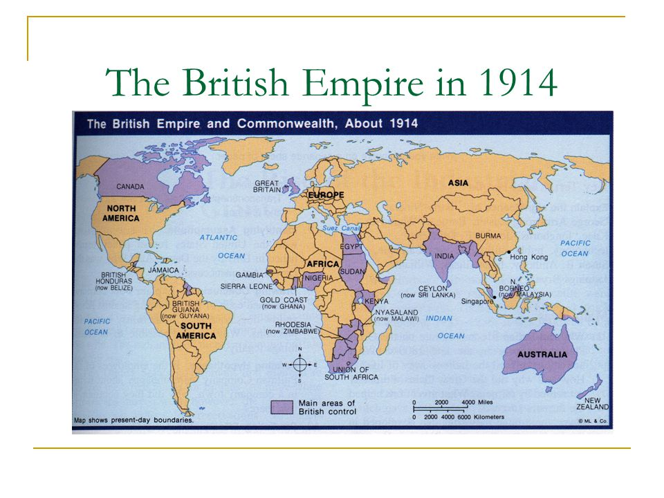 The British Empire in 1914