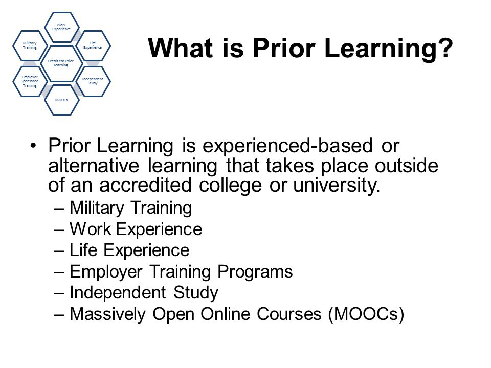 What is Prior Learning.