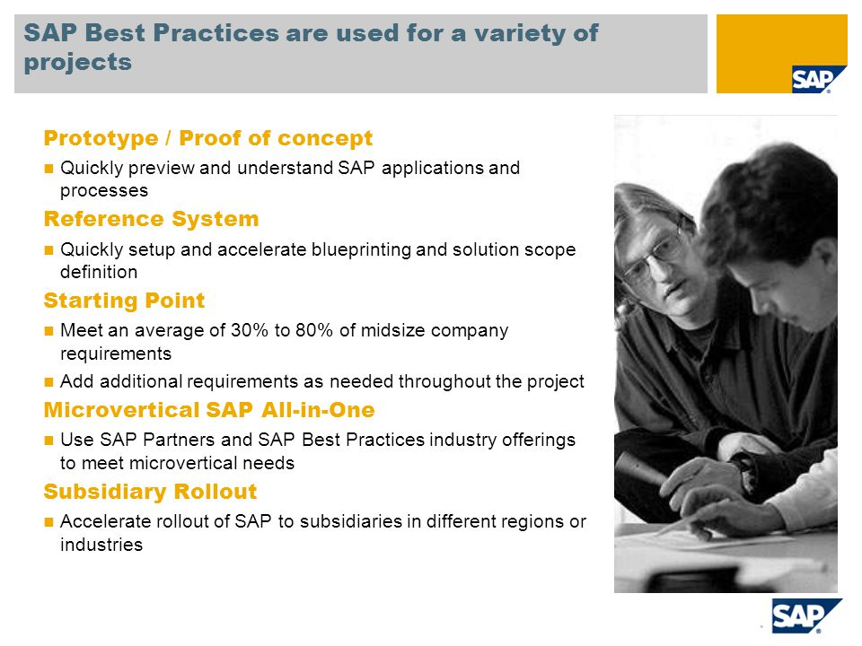 Sap best practices prepackaged industry cross industry know how 4 prototype malvernweather Image collections