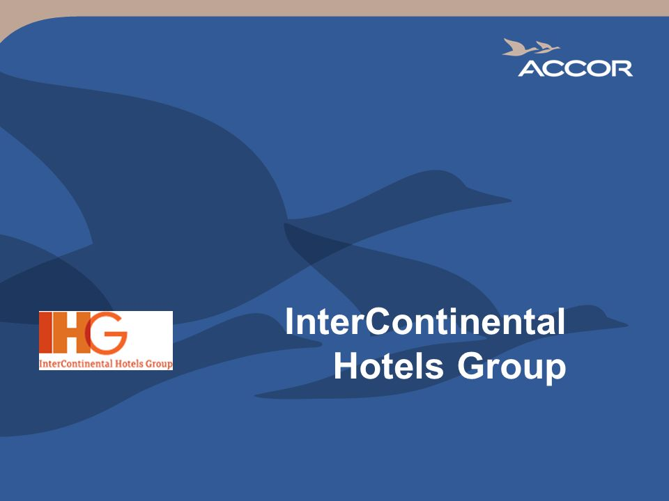 InterContinental Hotels Group  2 IHG vs  its Main