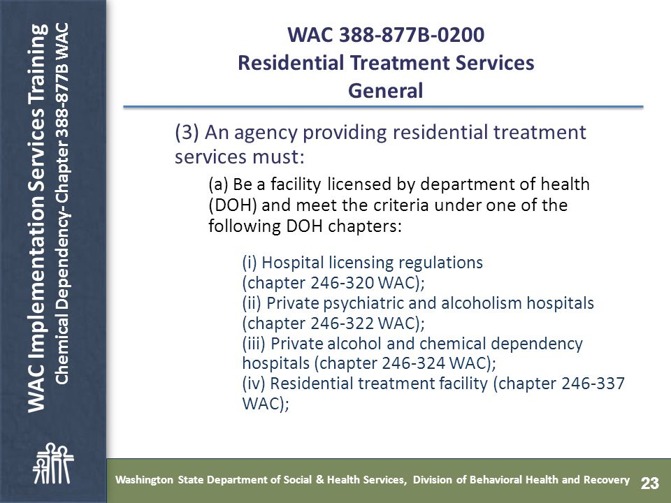 washington state department of social & health services, division of
