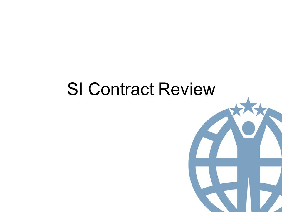 SI Contract Review