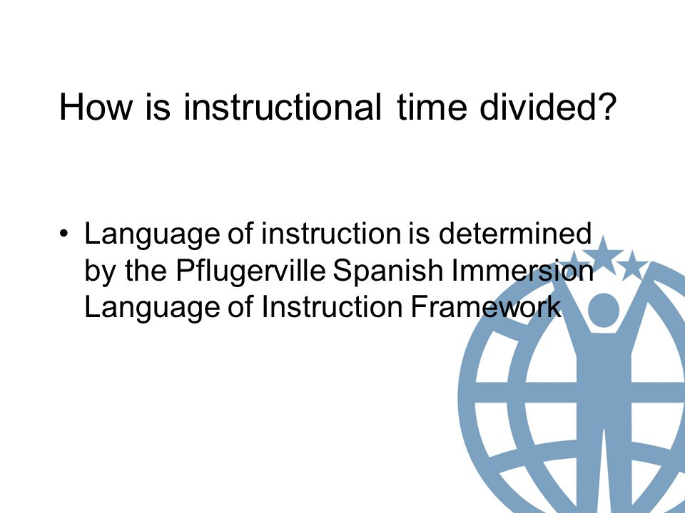 How is instructional time divided.
