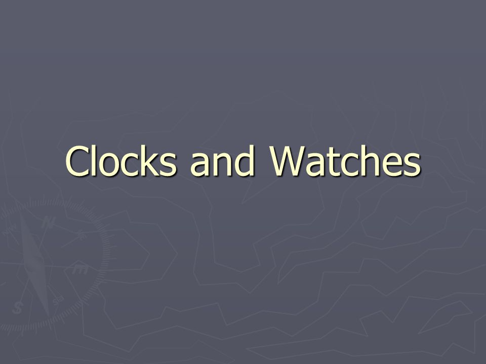 1 Clocks And Watches
